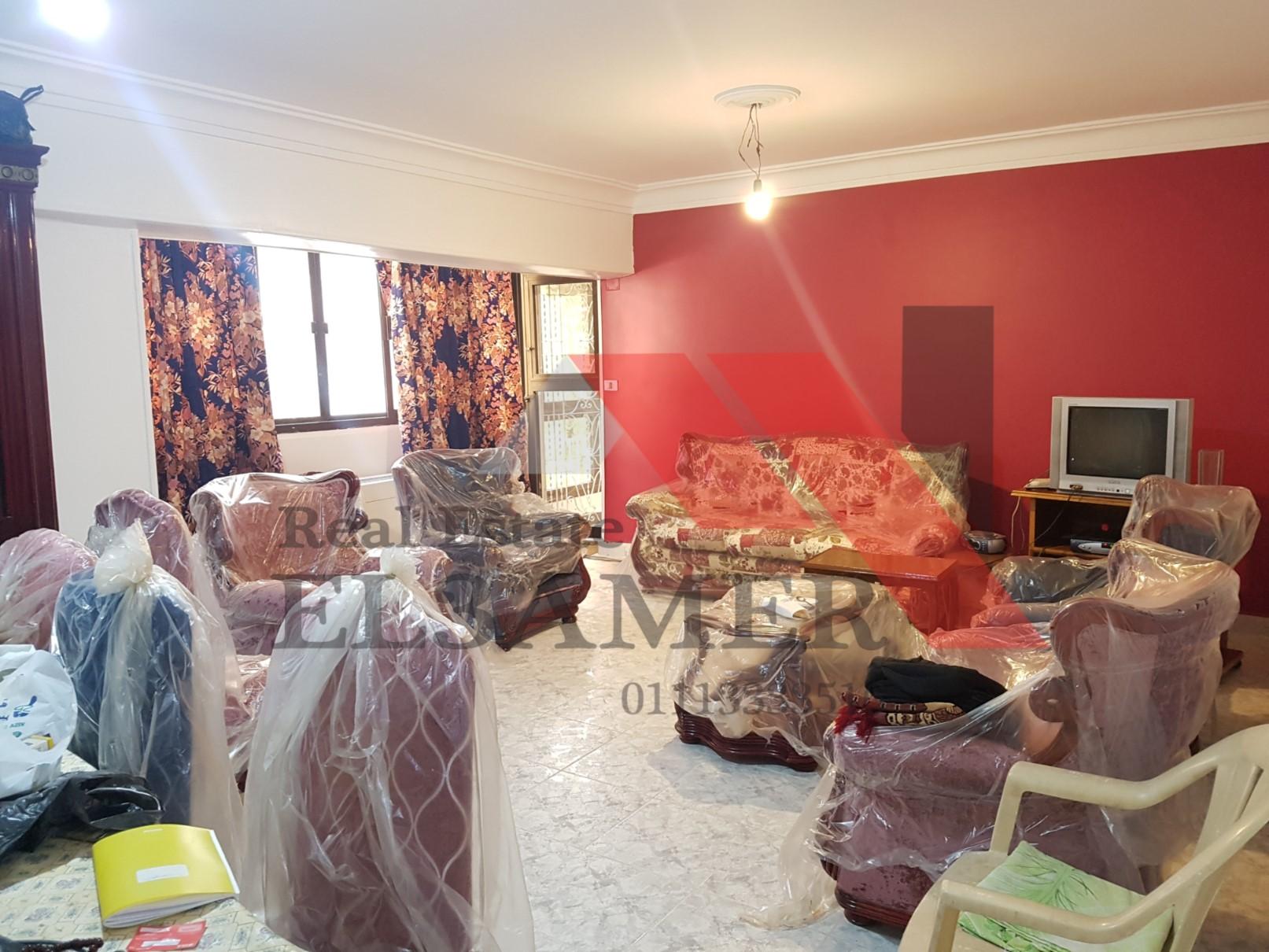 شقق للبيع شقة للبيع 125م مفروشة في زهراء المعادي قرب مبنى فودافون